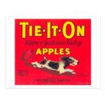 Tie It On Apple Label (red) - Tieton, WA Postcard