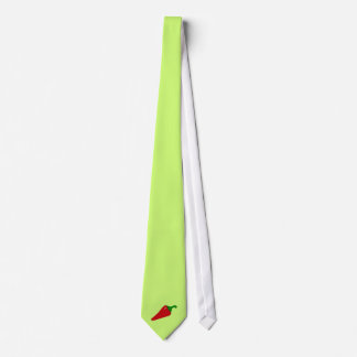 tie - lime green with chili pepper