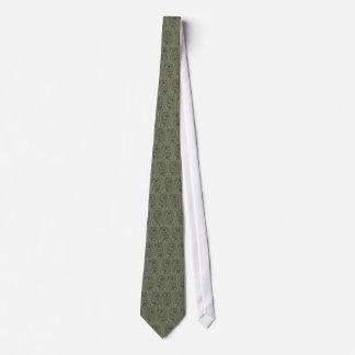 Tie Mirrored Ocean - Forest Green
