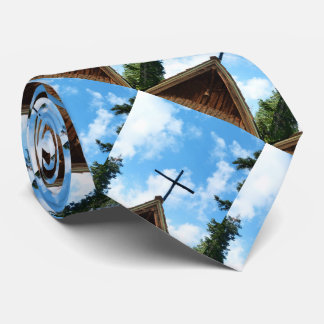 Tie, Old Country Church. Pattern Repeats Tie