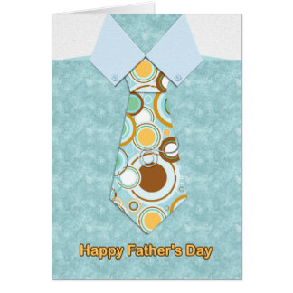 Tie On Blue Marble Shirt, Father's Day Card