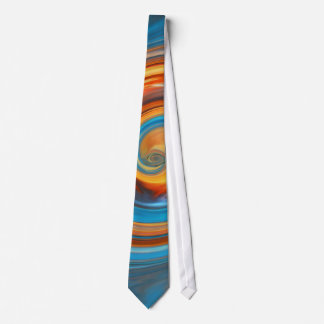TIE- silky 100% polyester fabric-ABSTRACT ART Tie
