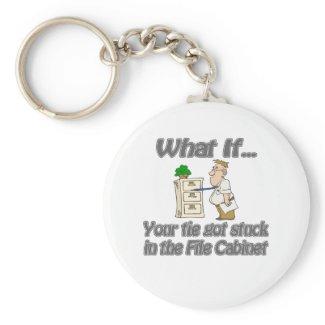 Tie Stuck File Cabinet keychain