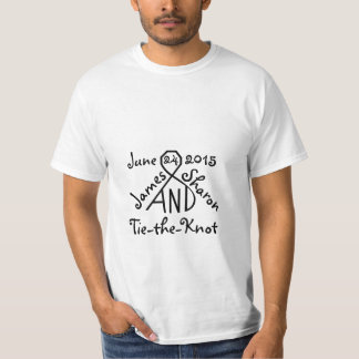 Tie the Knot Personalized Wedding Names Date shirt