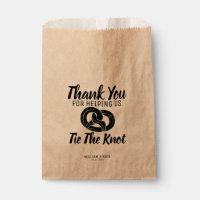 Tie the Knot Pretzels Treat Wedding Favor Bag