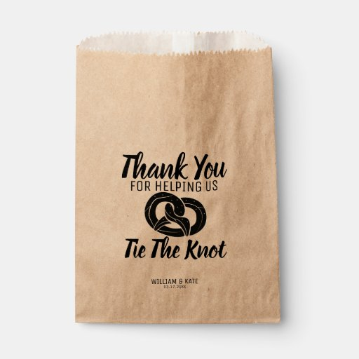 Tie the Knot Pretzels Treat Wedding Favor Bag