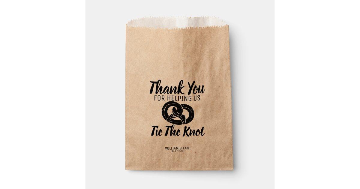 Tie The Knot Pretzels Treat Wedding Favor Bag Zazzle