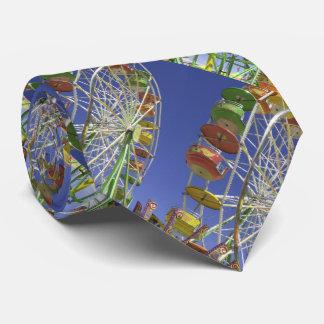 Tie, Vintage Ferris Wheel, Pattern Repeats Tie
