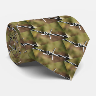 Tie with Barbed Wire Design