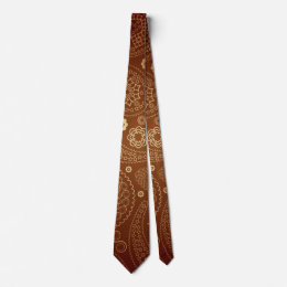 Tie with brown sample