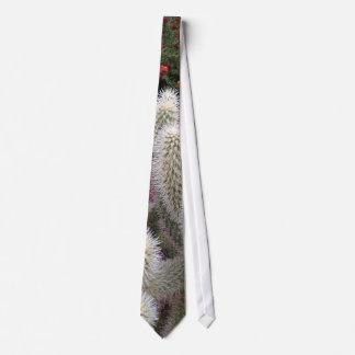 Tie with Cactus Print