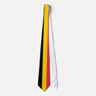 Tie with Flag of Belgium