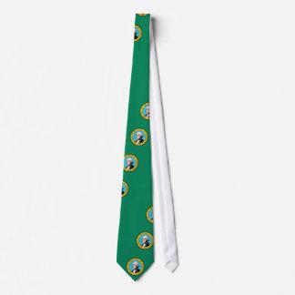 Tie with Flag of Washington State - USA