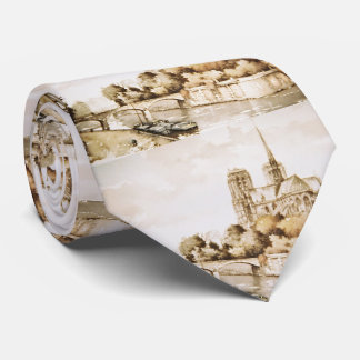 Tie with 'Notre Dame Cathedral' image