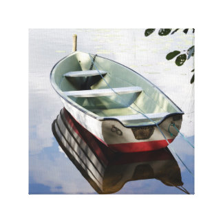 tied boat canvas print
