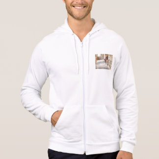 Tied donkey in brick structure hoodie
