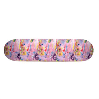 Tied dye type design, purple pink and more skateboard