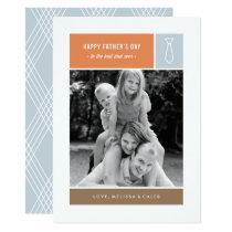 Tied Father's Day Card - Dusty Blue
