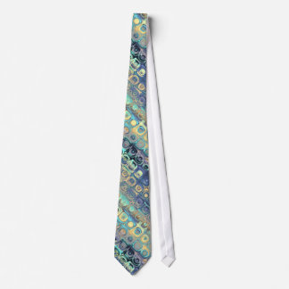 Tied Peacock Feathers Retro Abstract Tie