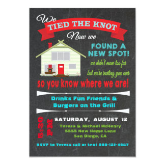 Tied the knot Housewarming Party Invitations