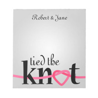 Tied The Knot Personalized Notepad