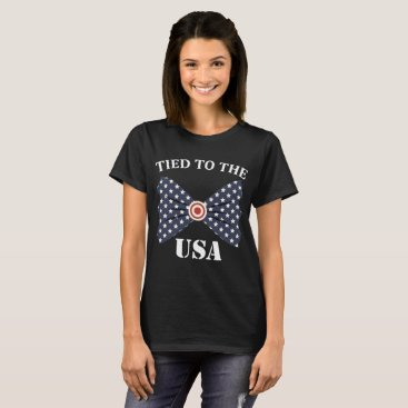 USA Themed Tied to the USA Bowtie American Flag T-Shirt