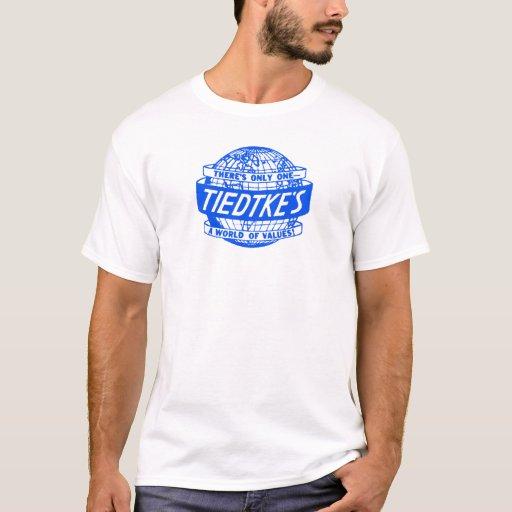 Tiedtke's Department Store Toledo Ohio Globe logo T-Shirt