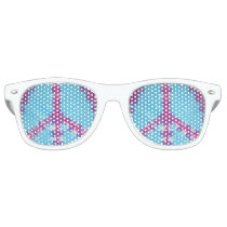 tiedye adult retro party shades peace sign