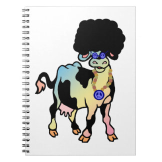 Tiedye Afro Cow Notebook