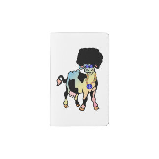 Tiedye Afro Cow Notebook Cover