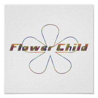 Tiedye Flower Child Poster