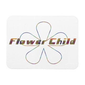 Tiedye Flower Child Rectangular Photo Magnet