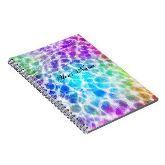 Tiedye Hippie Wavy Rainbow Effect Note Books