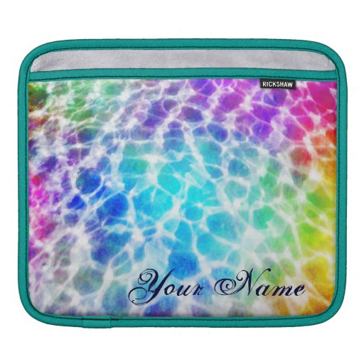 Tiedye Hippie Wavy Rainbow Effect Personalized Sleeves For iPads
