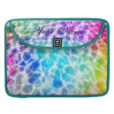 Tiedye Hippie Wavy Rainbow Effect Personalized Macbook Pro Sleeve at Zazzle