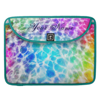 Tiedye Hippie Wavy Rainbow Effect Personalized MacBook Pro Sleeve