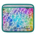 Tiedye Hippie Wavy Rainbow Effect Personalized Sleeve For iPads