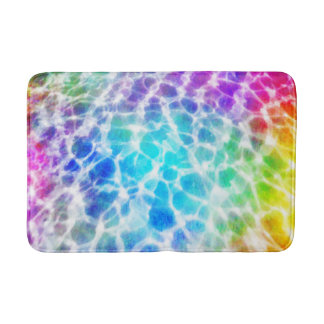Tiedye Hippie Wavy Rainbow Pool Water Effect Bathroom Mat