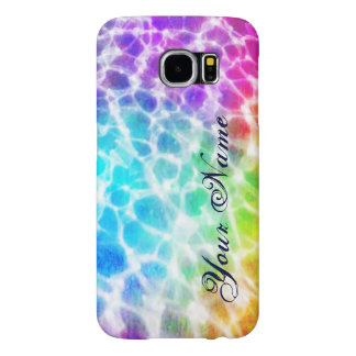 Tiedye Hippie Wavy Rainbow Pool Water Effect Name Samsung Galaxy S6 Case