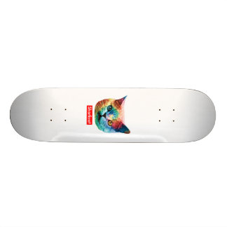 TieDye SHRKCT WOODGRAIN Custom Skate Board