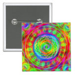 Tiedye Target 2 Inch Square Button