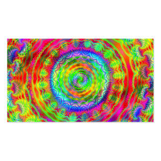 Tiedye Target Double-Sided Standard Business Cards (Pack Of 100)
