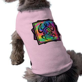 Tiedye Turtle Symmetry Dog Shirts