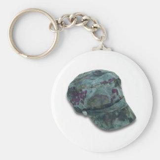 TieDyeCommandoHat122410 Basic Round Button Keychain