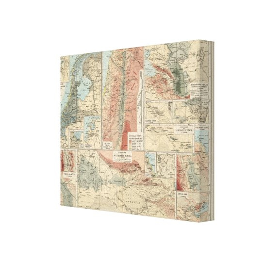Tieflander Atlas Map Canvas Print