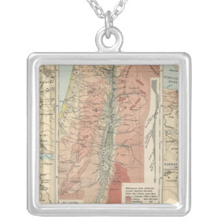 Tieflander Atlas Map Silver Plated Necklace