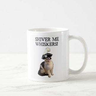 Tiembla las barbas tazas de café