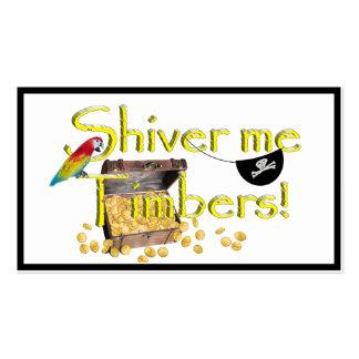 ¡TIEMBLA LAS MADERAS! - Pecho del texto w/Pirate Tarjetas De Visita