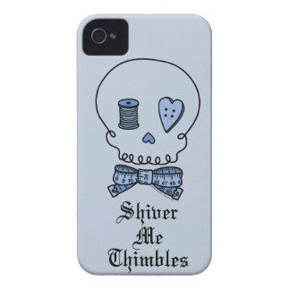 Tiembla los dedales (azules) Case-Mate iPhone 4 protectores