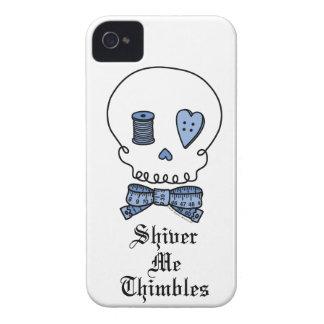 Tiembla los dedales (azules) iPhone 4 Case-Mate protectores